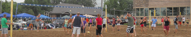Sand volleyball leagues at Shakopee Eagles Club